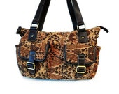 Vintage 1960s Carpet Tapestry Handbag Paisley Authentic Leather Trim Large Shoulder Bag