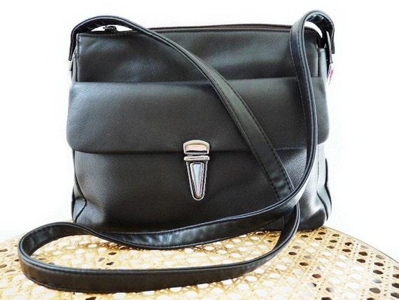 Vintage Shoulder Bag Genuine Leather, Purse Front Pocket Satchel crossbody bag CARLO D'SANTI Sale
