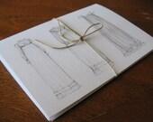 Hand Drawn Regency Fashions Greeting Cards