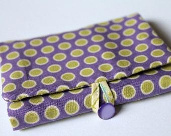 Bubblegum Flower Dot Wallet PDF Pattern and Tutorial
