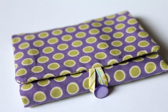 Bubblegum Flower Dot Wallet PDF Pattern and Tutorial