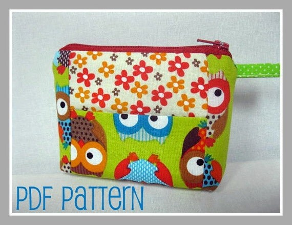 NEW - Sweet Kiss Wallet - 30 minute project / Coin Purse PDF Pattern - Beginner Project