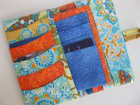 Spring Fling Wallet - with removable card holder insert - PDF PATTERN