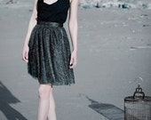 AUDREY - Black and Gold Geometric Lace Dress