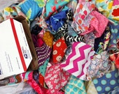 Designer Fabric Scraps -- Read to Ship in Priority flat rate envelope -- PIF