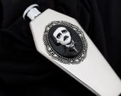 Edgar Allan Poe Cameo Coffin Flask