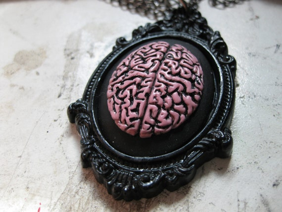 Brain Cameo Necklace