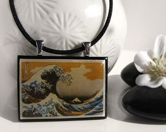 Hokusai, The Great Wave, Japanese Pendant * SALES * STOCK CLEARANCE