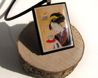 Chiyako, Japanese Woman with green tea * SALES * STOCK CLEARANCE