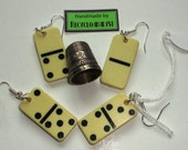 Mini Dominoes Kitsch Earrings Handmade By Recycloanalyst