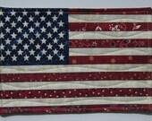 Small American Flag Mug Rug or Wall Hanging