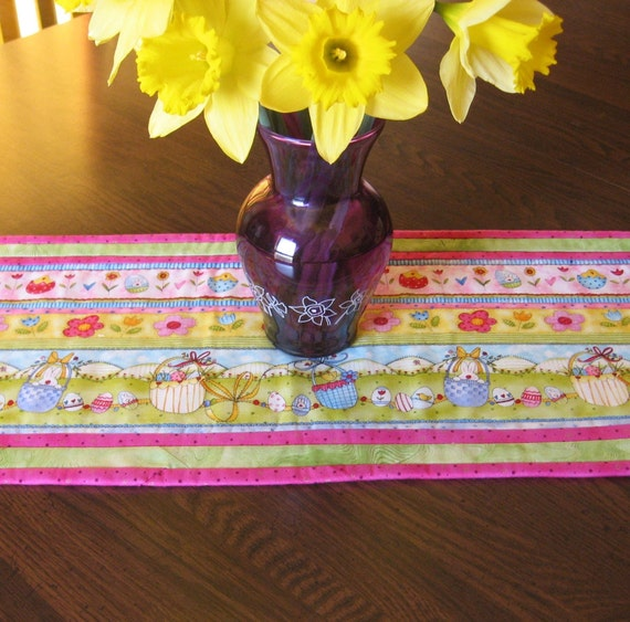 Easter Bunnies and Chicks Table Runner
