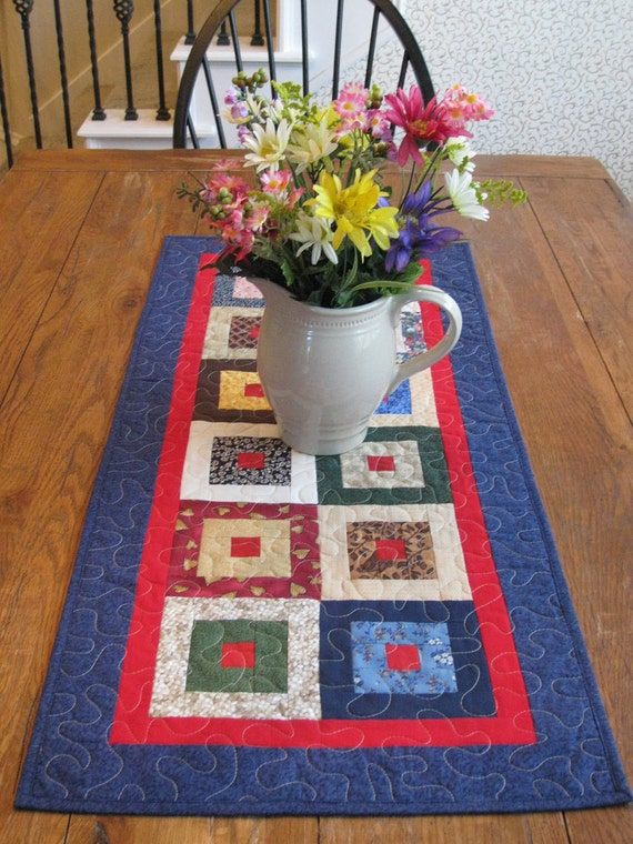 The Scrappy Squares Patchwork Table Runner