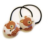 Button Ponytail Holders - Deer Bambi