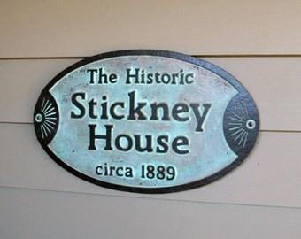 Custom Historic House Plaque