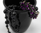 Purple And Black Necklace (One Of A Kind)