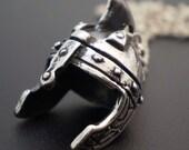 Sterling Silver Roman Helmet Pendant