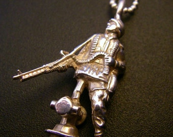 Sterling Silver Soldier Pendant