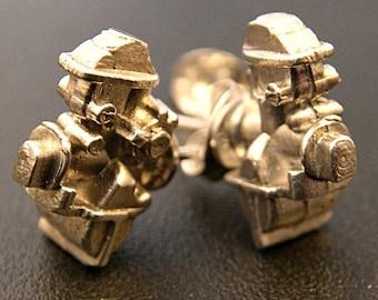 Sterling Silver Mechanical Earrings