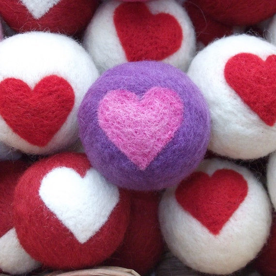 Clearance - Jack's Valentine Catnip Wool Cat Toy - Purple and Pink
