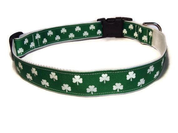 Lucky Shamrocks Dog Collar