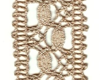 Vintage Cluny Cotton Bobbin Lace Trim Dark Ecru 2 Inches Wide - 8 Yards