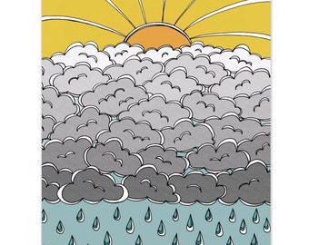 Sun, Clouds, Rain  8 x 10 Art Print - Here Comes the Sun