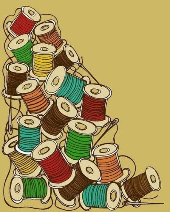 Pile O' Spools- 8x10 Print