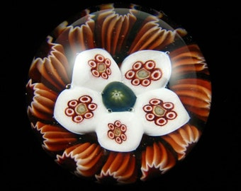 Concentric Millefiori Paperweight by Greg Hanson