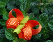 Spring Butterfly Clippie - Ribbon Sculpture