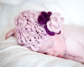 Easy KNITTING PATTERNS - baby girl hats - 'precious flower'