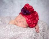 KNITTING PATTERNS - baby girl hats - 'precious flower'