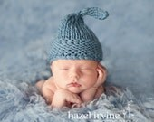 Easy KNITTING PATTERNS - newborn hats - 'chunky wee willy winky'
