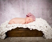 KNITTING PATTERN baby blanket - newborn photography props - 'extreme texture'