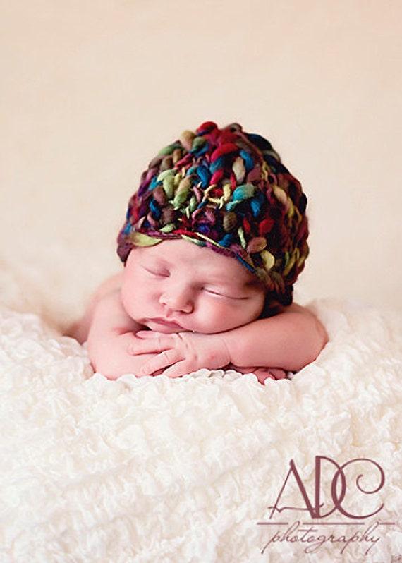 KNITTING PATTERN -baby girl hats 'mocha beanie'