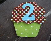 Birthday Cupcake - - -You pick number - - - Applique Template Pattern ONLY - - - make your own applique