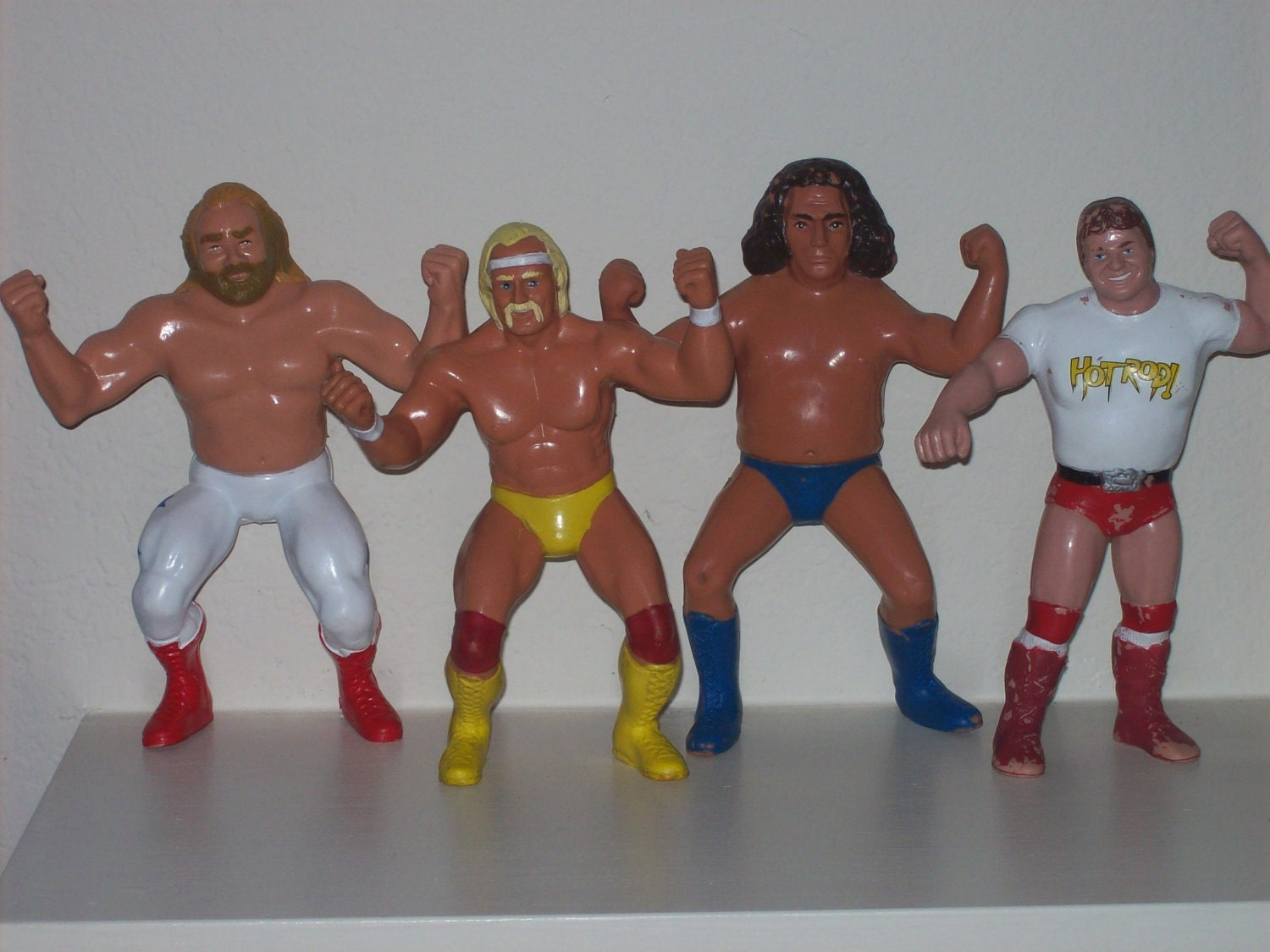 Toys From The 1980s : Vintage s set of four wwf wrestling figures dolls ljn