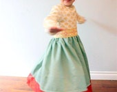 Romantic Vintage Dress by anna leigh... Full skirt with lace, Perfect for twirling Princesses.. 3T 4T 5T