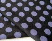 Knit Fabric- Michael Miller Ta Dot in Black- 1 yard