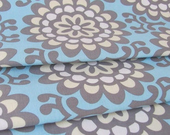Amy Butler Fabric- Wall Flower in Sky