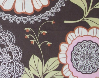 Fabric- Amy Butler Lotus Lacework in Olive- 1 Yard