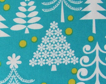 Christmas Fabric- Michael Miller Holiday Trees in Turquoise