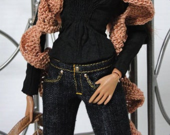 "HSD Signature Jeans - fit 12"" Fashion Royalty Dolls - Choose your color"