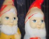 Two VINTAGE Garden GNOMES to Protect your Retro Abode and Garden
