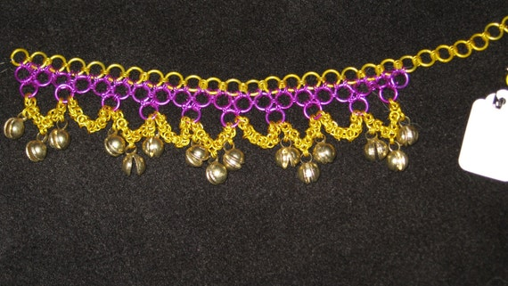 Ankelet or Bracelet, Drop Loop Style With BELLS