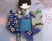 Japanese origami paper doll Hiro