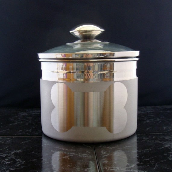 Etched Dog Treat Jar with Bone - Not Personalized