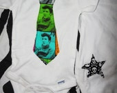 The King Elvis Presley Tie Onesie Rock and Roll with Star on Tushie