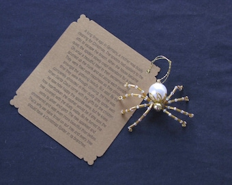 Christmas Spider Ornaments (Gold)