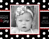 Spotty Dotty Holiday Classic Custom Photo Card